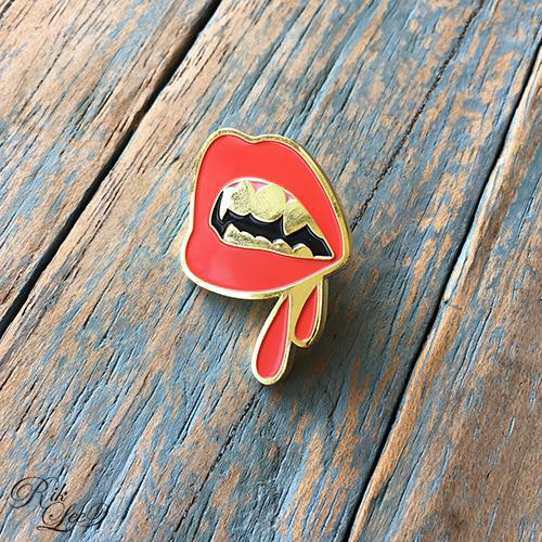 Red Fang Lapel Pin