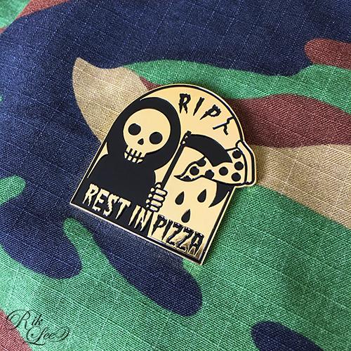 Rest In Pizza Lapel Pin