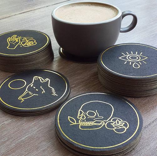 Hopeless Romantic Drink Coasters