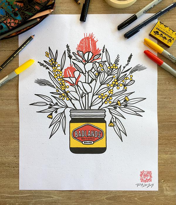 Badlands Brand -  Australian Native, T-shirt Design