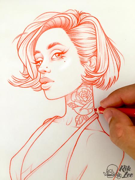 new illustrations sketches and original art work by rik lee rik lee