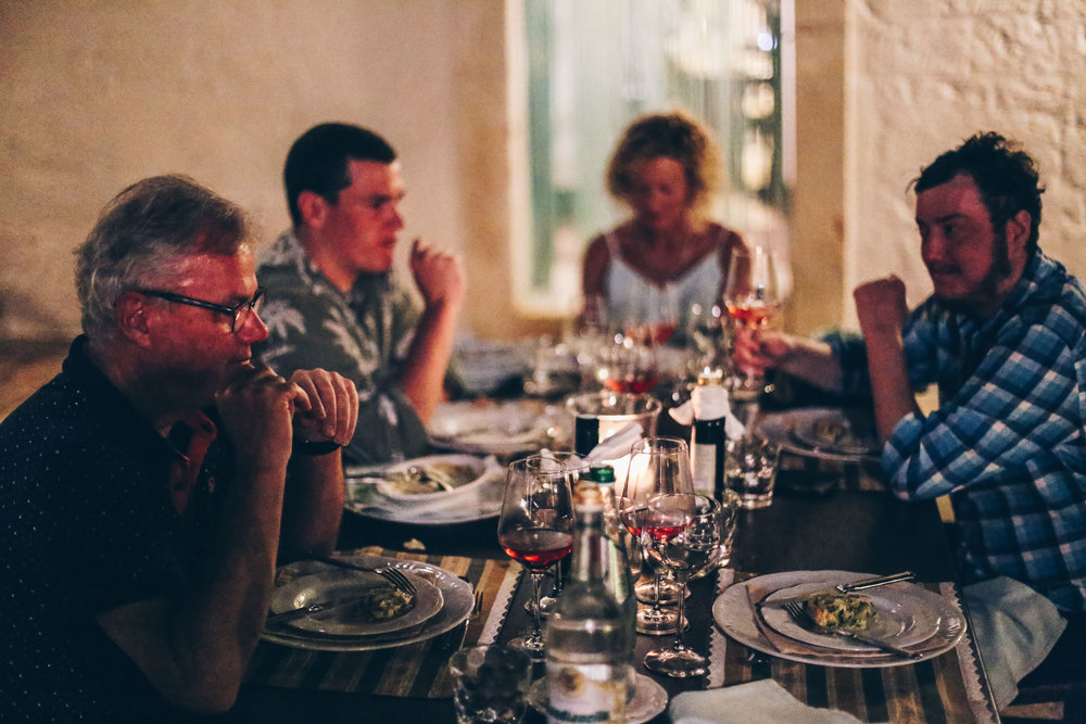 On your first night you're taken on a tour of the property, followed by an 8 course degustation meal with matching wines. With food cooked by the local women of the kitchen carrying on the traditions of their ancestors, we opted to have our evening meal there 3 nights in a row.