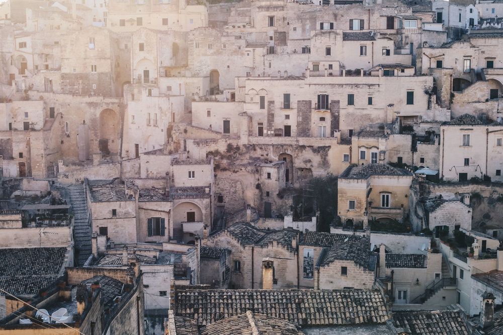 The city of Matera is a MUST do for a 2 night stop over.