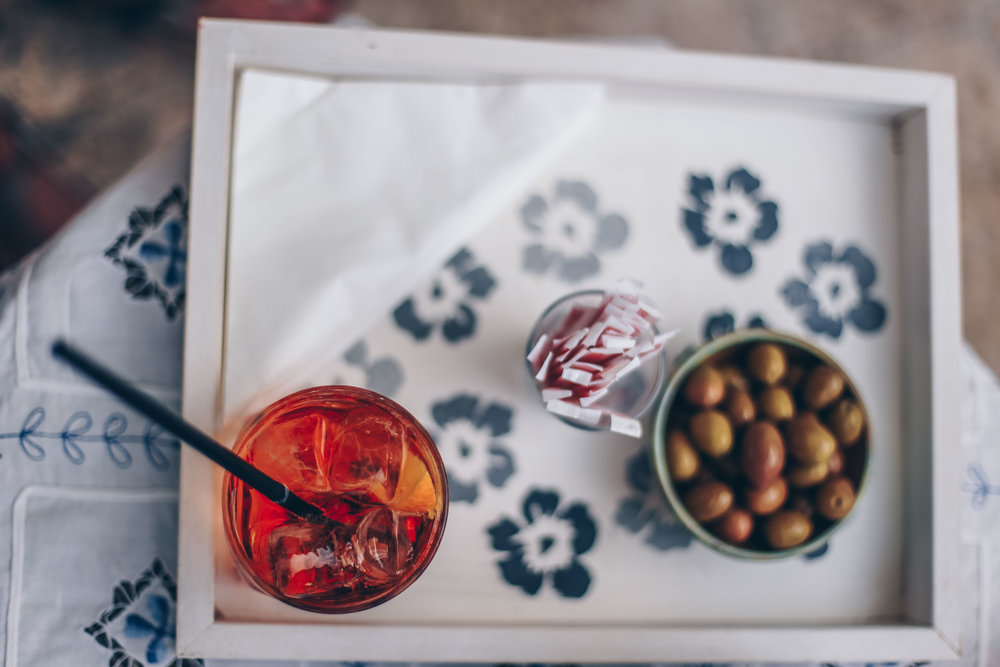 Olives and Aperol Spritz everywhere!