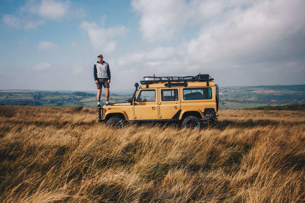 We used linda as our muse.linda is an easy product to place, she's hard to miss. All we wanted was to be able to display her for the absolute beast she was and inspire others to embrace the adventurer within. - Linda the land rover