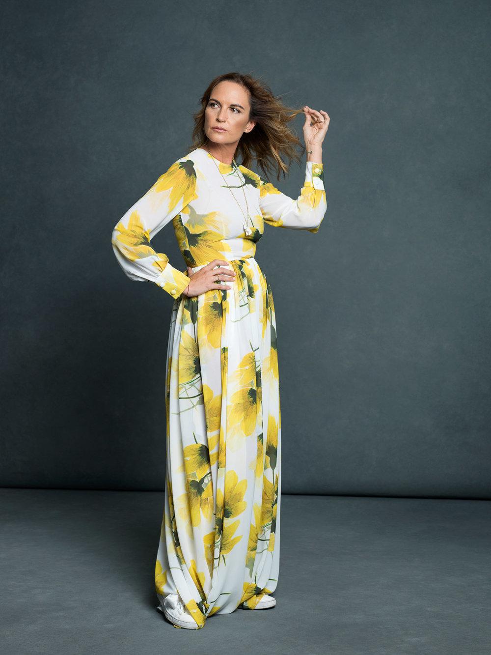 The Brand Maker - Paulina Cerezo in the Golden Dreams Dress.