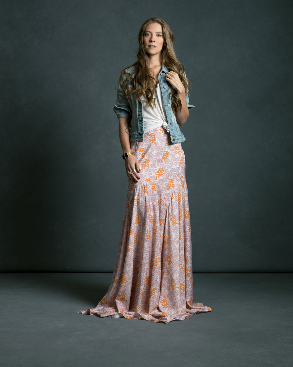 The Behind The Scenes Woman - Gabriela García-Galont in the Verbena Skirt.