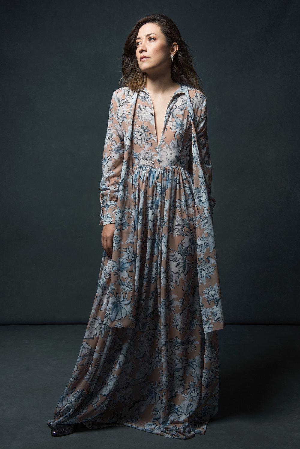 The Designer - Ana Wakeham in the Lauren Dress.