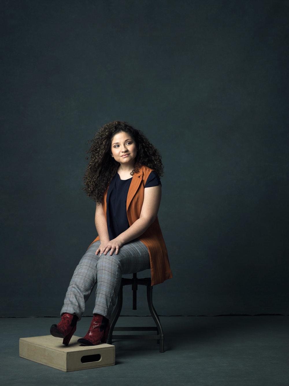 The Image Creator Woman - Karla Diaz in the Zinnia Blouse.