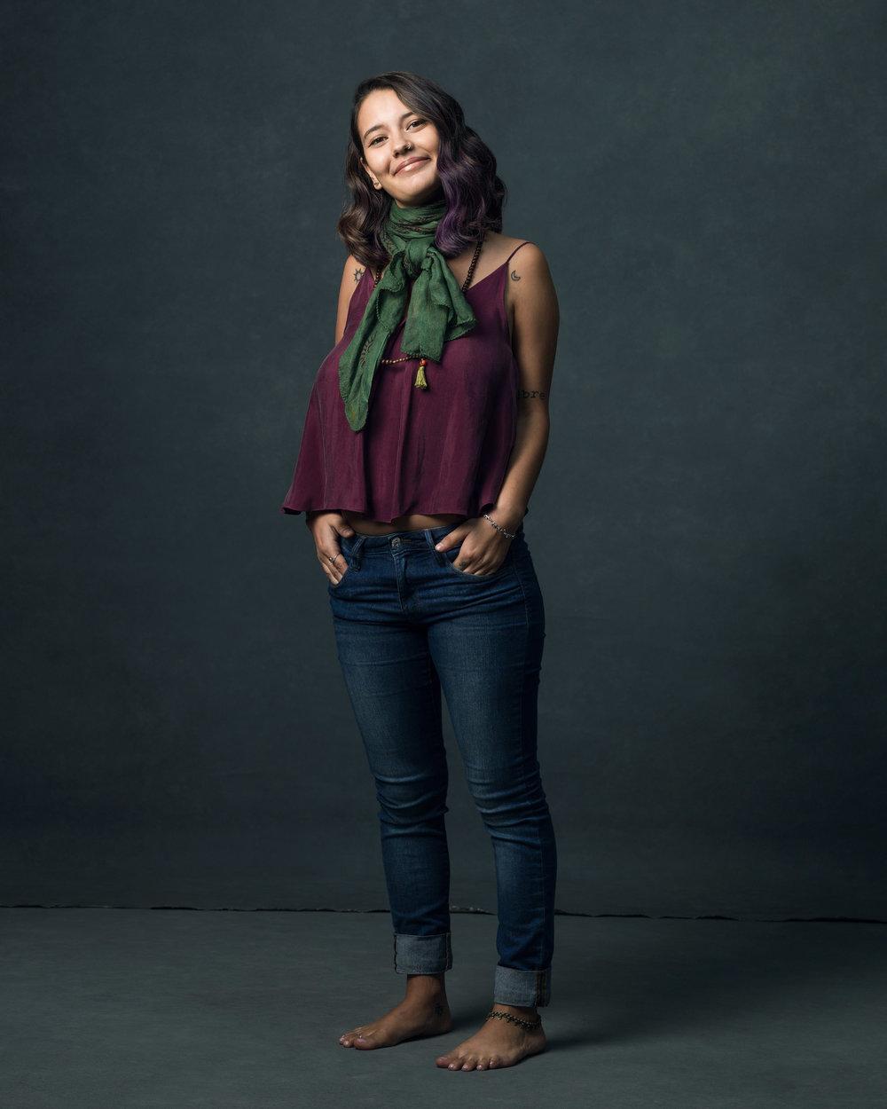 The Poetic Woman - Daniela Castillo in the Federica Top.