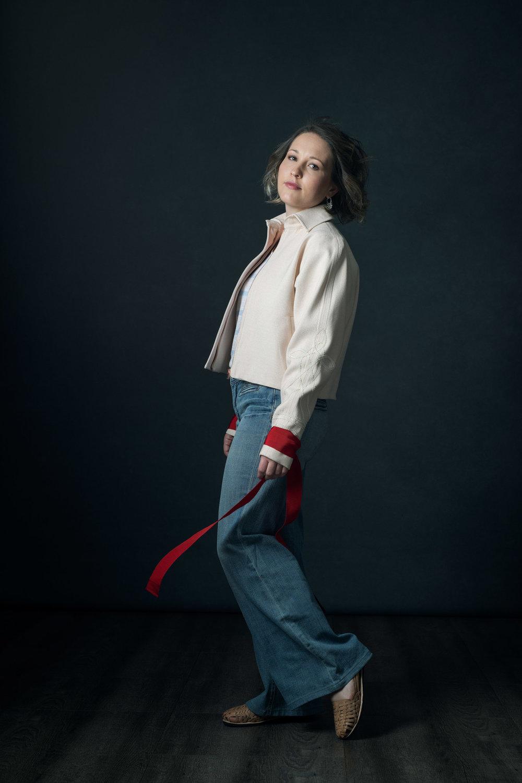 The Female Gaze Woman - Ana Werren in the Essence Jacket.