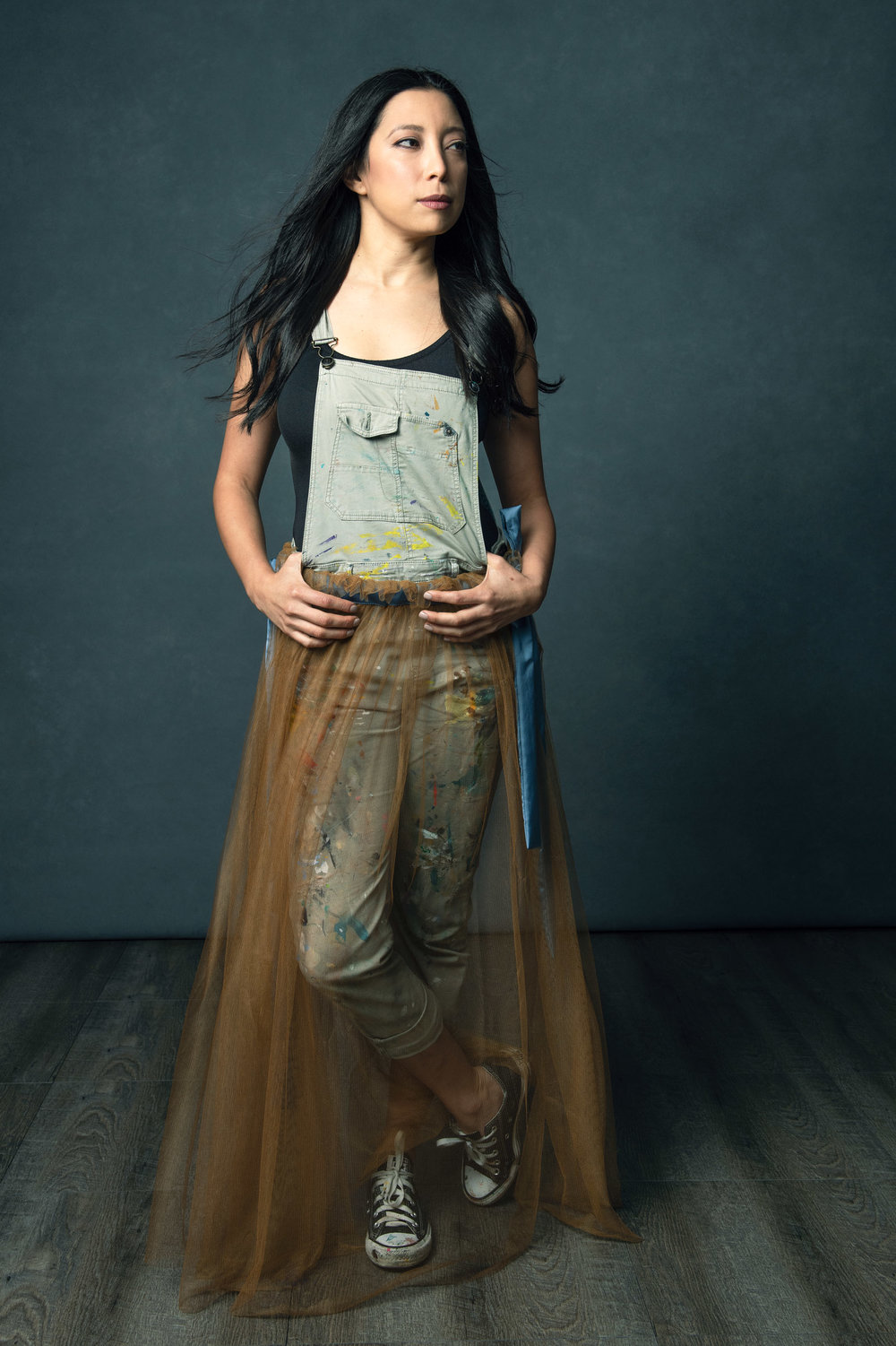 The Egg Woman - Rosana Lagos in the Etheral Skirt from our Flourish colletion.