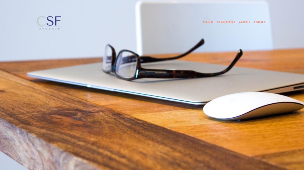 CSF Avocats - Présenter son offre du point de vue des clients et moderniser son site.