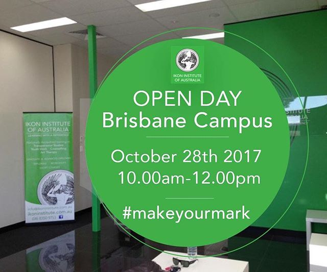 Have you Registered for our BRISBANE CAMPUS OPEN Tomorrow, 28th October  10:00am - 12:00pm Don't miss this opportunity to learn more about our courses, meet with teaching staff, and find out how you too can #makeyourmark! Register here: http://www.emailmeform.com/builder/form/9O31q0dhk8gsaZx5Pu #makeyourmark #openday #ikon #ikoninstitute #brisbane #QLD #comestudywithus #lifechanging #comealong #bringafriend #study #education #makingadifference