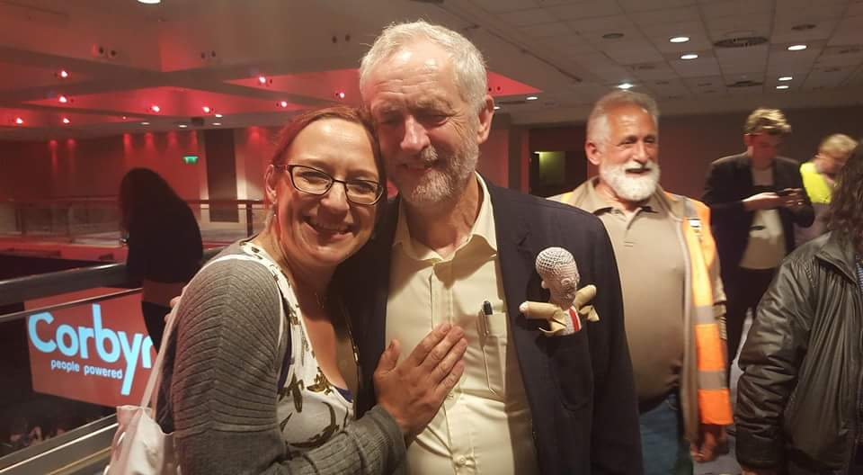 Jeremy Corbyn and Katrina Stiff