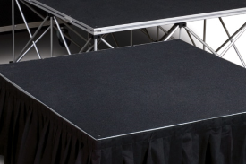 stages - Professional quality, durable truss staging supplied in 1m squares.Suitable for small venues, for bands, DJ's or other entertainment.