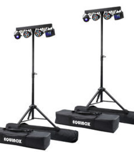 celebration party disco - 2 Professional Quality 400W Alto SpeakersSpeaker Stands2 Equinox MIcrobar Multi System FX Lighting1 Multi Input Audio Mixer1 Radio MicrophoneAll cabling and Installation IncludedIdeal for up to around 70 PeopleQuick SetupPrice £115 for 1 Day HireDelivery charge extra depending on location.