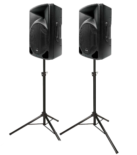 speaker pa hire - 2 Professional Quality 400W Alto SpeakersSpeaker Stands1 Multi Input Audio Mixer1 Radio MicrophoneAll cabling and Installation IncludedIdeal for up to around 70 PeopleQuick SetupPrice £75 for 1 Day HireDelivery charge extra depending on location.