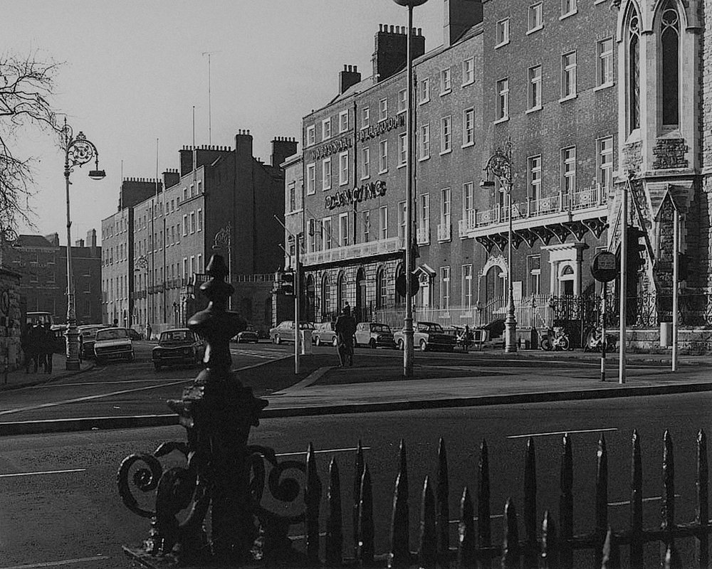 Parnell Square, North side from steps of No. 14. David Davison, 1974.