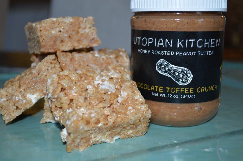 Brown ButterChocolate ToffeeRice Crispie Treats -