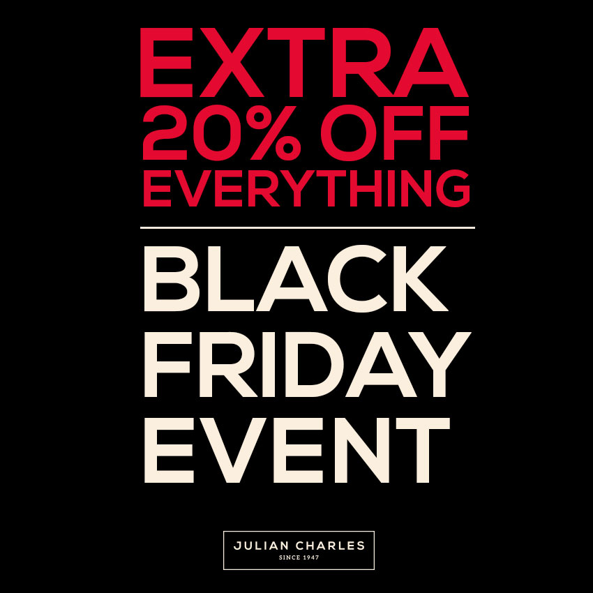 Julian Charles - 20% off everything including Yankee CandlesMonday 20th November – 27th November inclusive