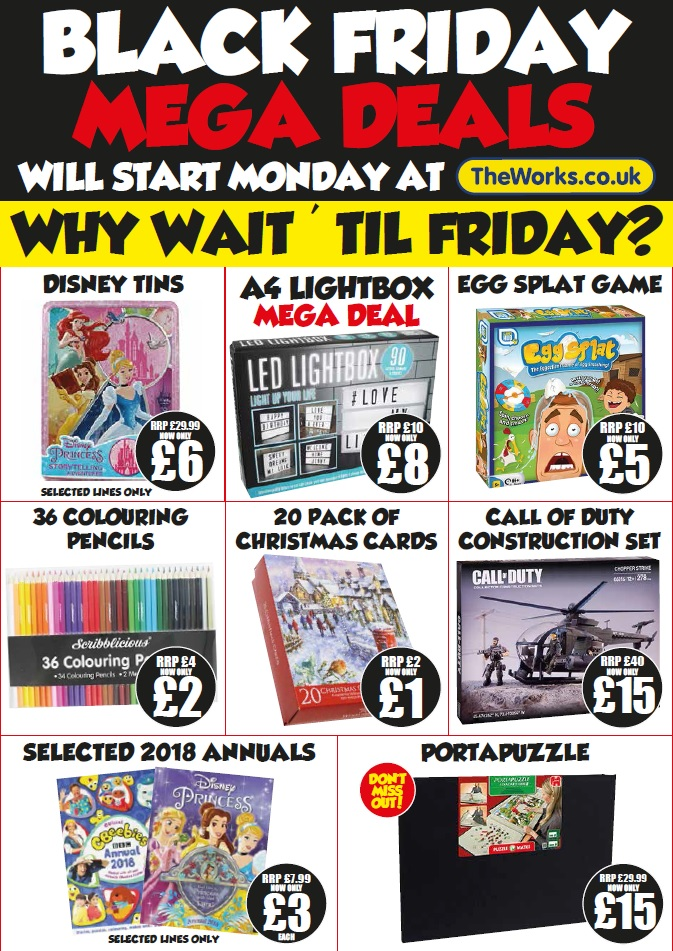 The Works - 2 for £10 NOW 3 FOR £12 today only!!