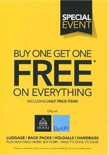 Bags Etc - Buy One Get One free24th Nov - 27th Nov