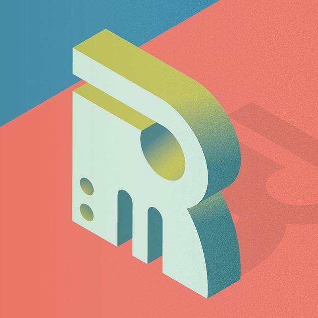 #36days_R  Zoidberg from Futurama? Just me? ___ #36daysoftype @36daysoftype @adobecreativecloud #adobeillustrator #vectorart #textures #outerhebrides #outerhebridesofscotland #westernisles #typeface #abstractbuilding #abstractletters #scotland #scottishislands
