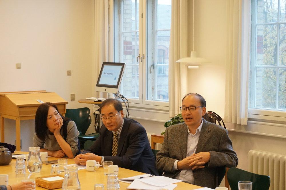 Professors Gao Xi (left), Jin Guangyao (middle) and Li Jianming (right)