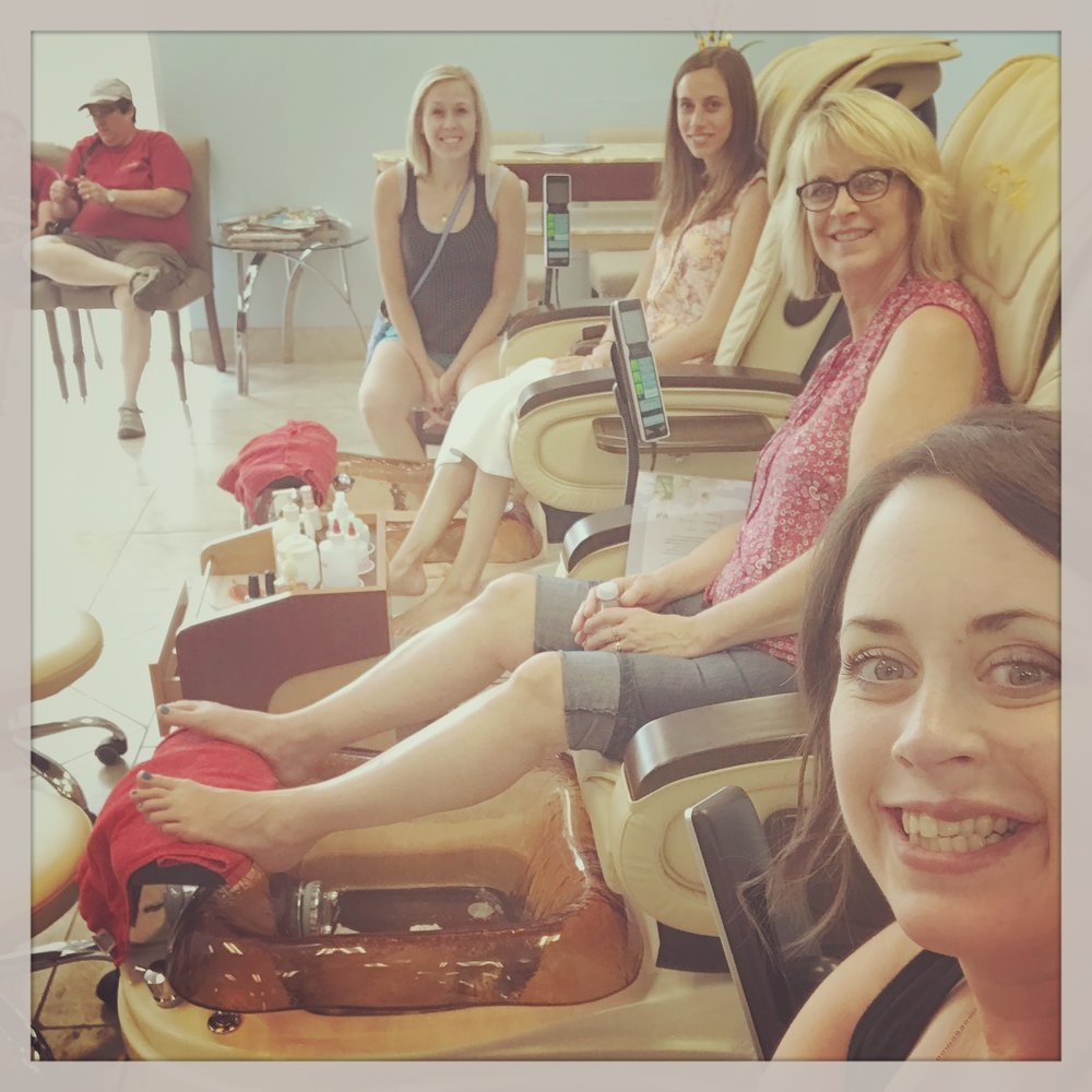 Pedicures with the girls