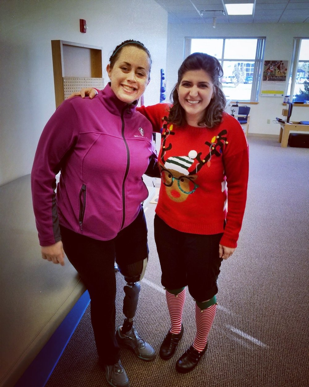 My physical therapist Dara. She's the best!