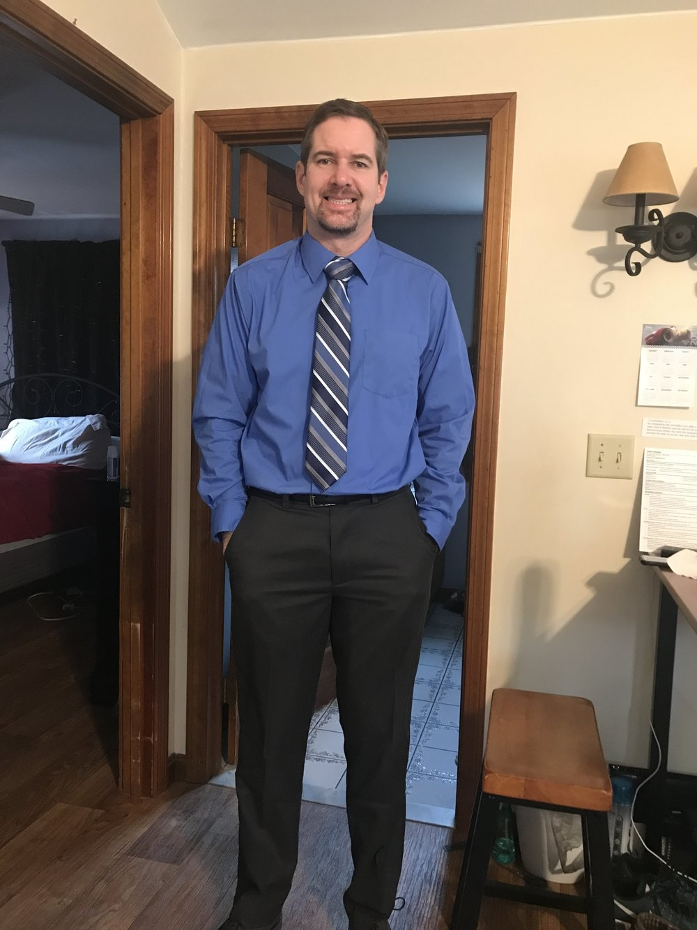 David on his way to an interview
