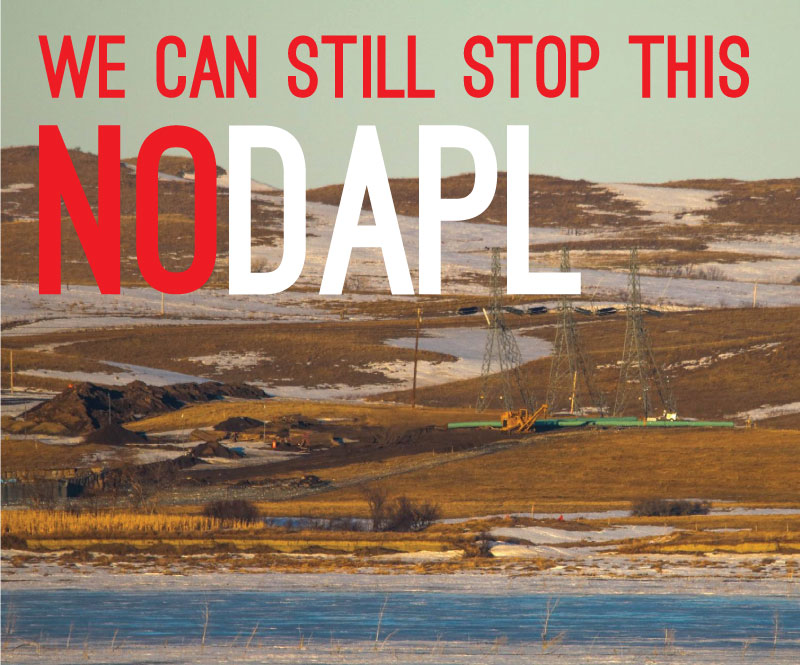 DAPL Pipeline being laid across the Missouri River, February 20th, 2017 - MK
