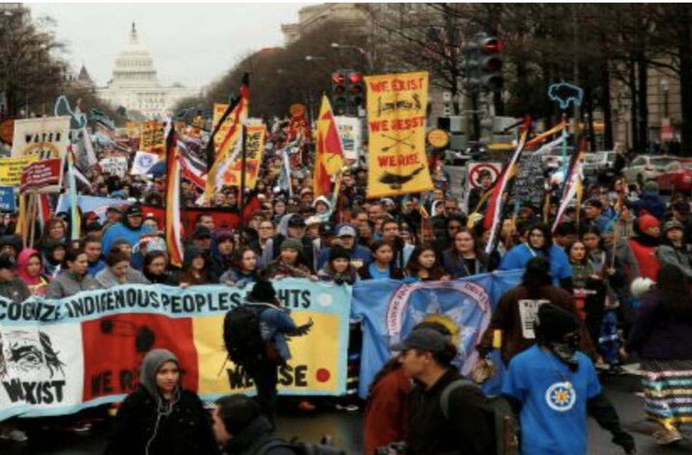 Native Nations March on Washington. March 10th, 2017
