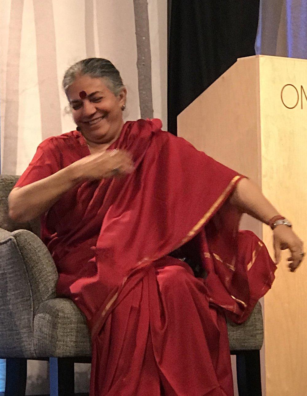 Vandana Shiva during her opening keynote address.