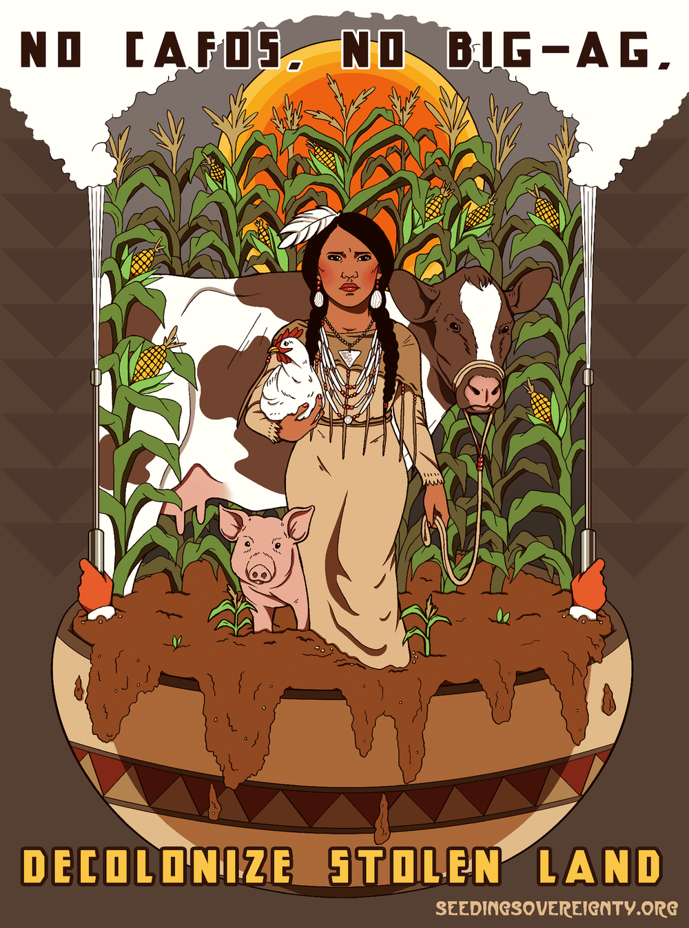 Iowa: Big-Ag's Sacrifice Zone - An Indigenous Perspective - A Land Decolonization Project Zine Series by Seeding SovereigntyWritten by Christine Nobiss & Art by Jackie FawnPublished September 27, 2018 Printable PDF Zine Here