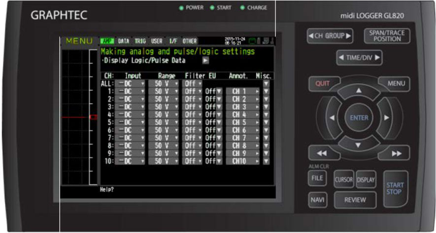 Graphtec Data Logger Data Platform Voltage and Temperature Reset To Zero Before Measurement Step 2
