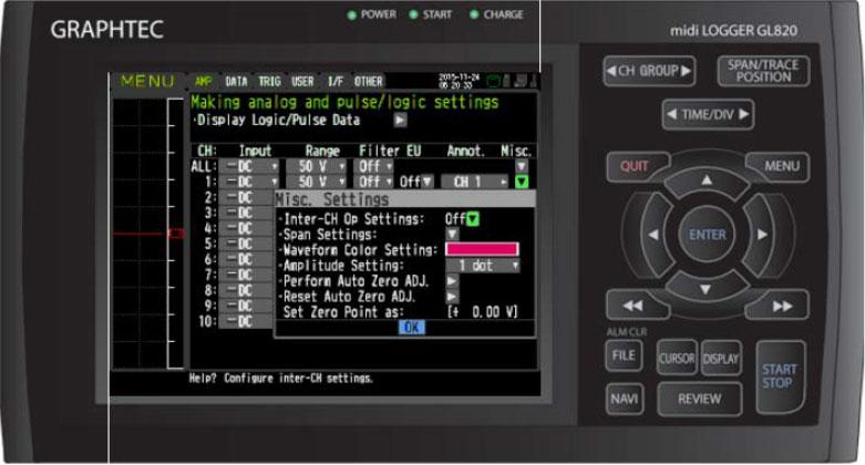 Graphtec Data Logger Data Platform Voltage and Temperature Reset To Zero Before Measurement Step 3