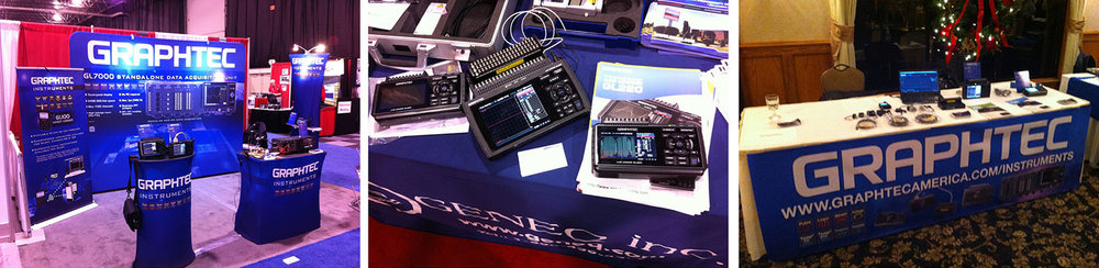 GRAPHTEC DATA LOGGER TRADESHOW EXPO BOOTH
