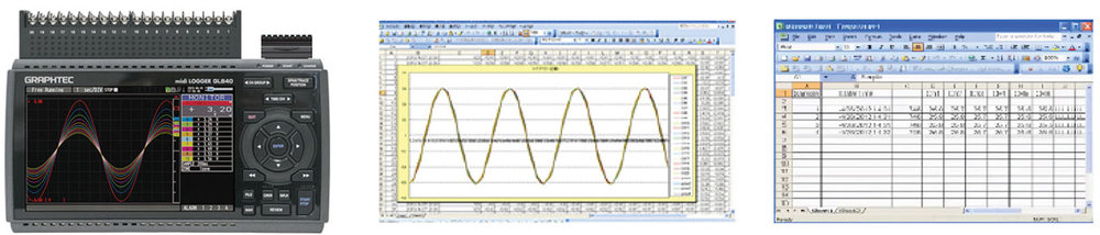 GRAPHTEC MIDI DATA LOGGER GL840 DIRECT CSV / EXCELL RECORDING WITH REAL TIME MONITORING CAPABILITY