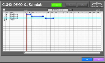 Set recording schedules easily by dragging the mouse and selecting time and date.