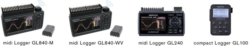 Wireless LAN Compatible Data Loggers