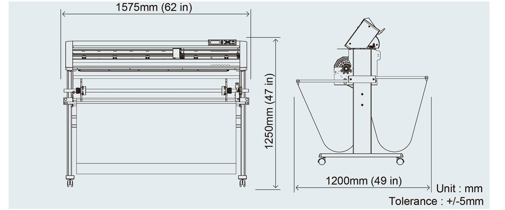 Graphtec CE6000 AP specifications sizes