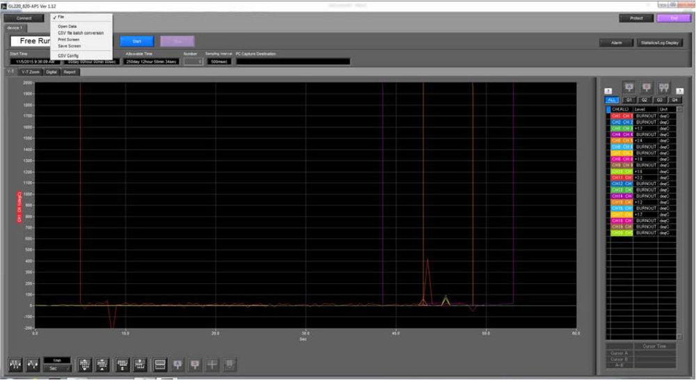 Graphtec Data Logger Data Platform How To Print or Save Displays on GL220 GL820 GL900 GL7000 Step 3