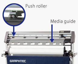Graphtec CE6000 AP - push roller, media guide