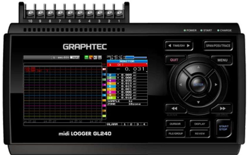 Graphtec Data Logger GL840 Adjusting Scaling For Sensor Transducer Measurement Step 5