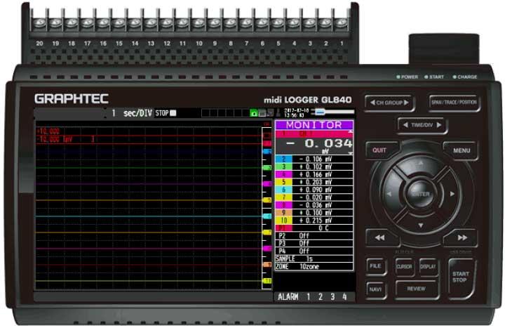 Graphtec Data Logger GL840 Turn On Pulse Logic Step 7