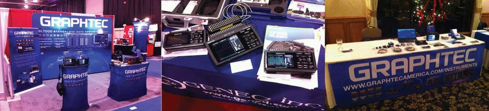 Graphtec Data Loggers Instruments Tradeshow
