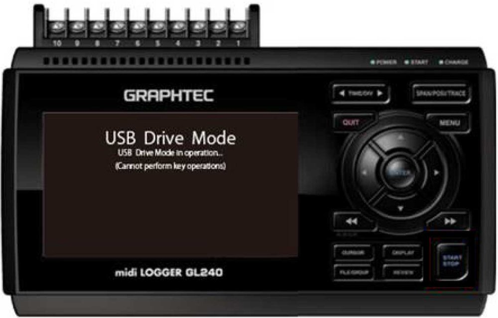 Graphtec Data Logger GL240 USB Driver Mode Step 2