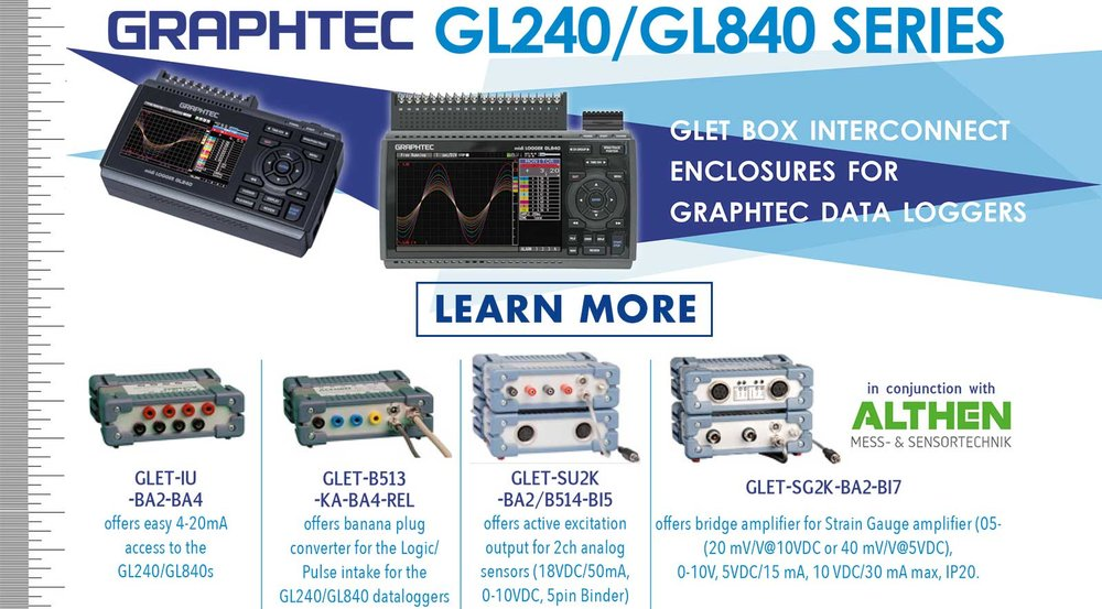 GRAPHTEC GL240 GL840 SERIES GLET BOX INTERCONNECT ENCLOSURES FOR GRAPHTEC DATA LOGGERS IN CONJUNCTION WITH ALTHEN